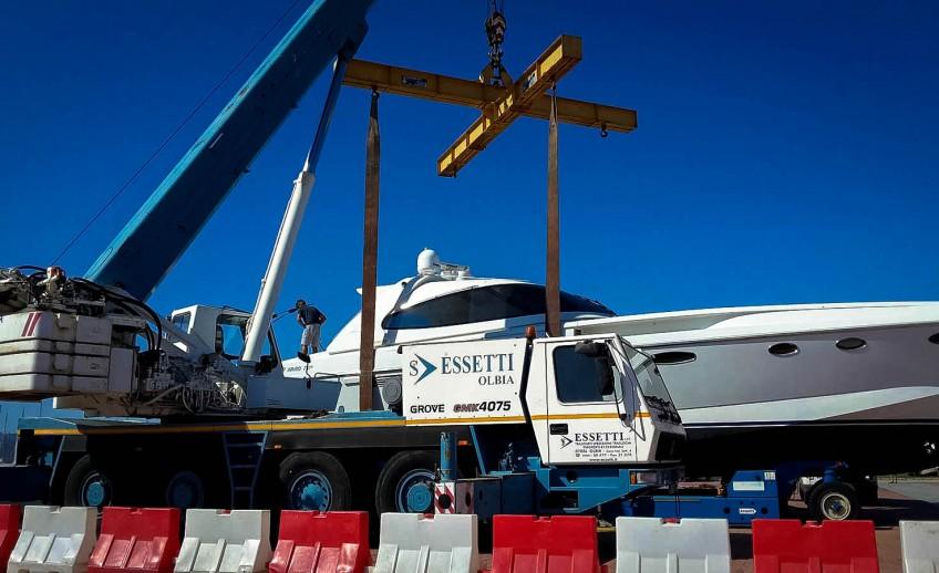 Servizio di Alaggio e Varo barche - Logistica Essetti