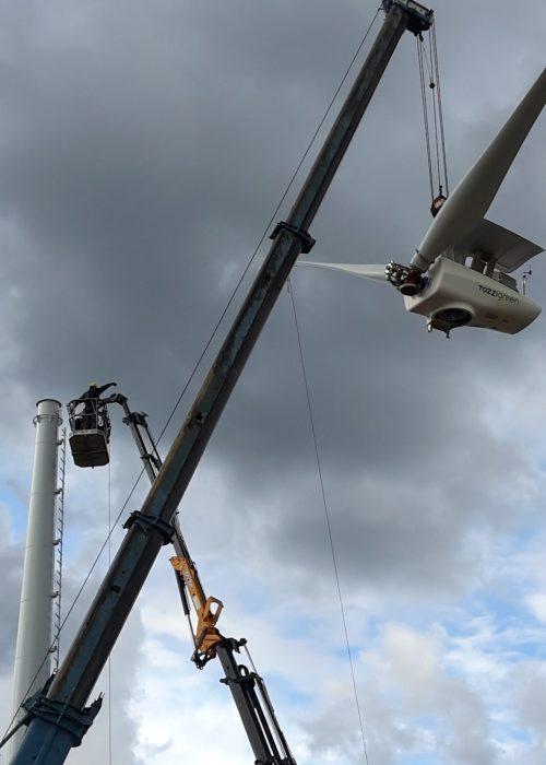 Logistica Essetti - Installazione impianto Eolico
